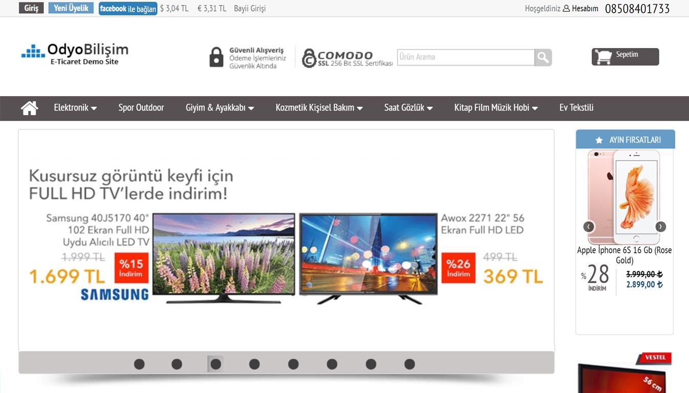 e-ticaret sitesi tema
